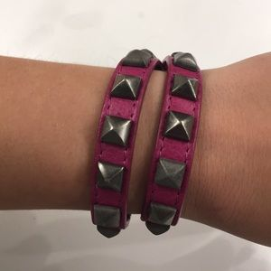 Rebecca Minkoff Wrap Bracelet Burgundy